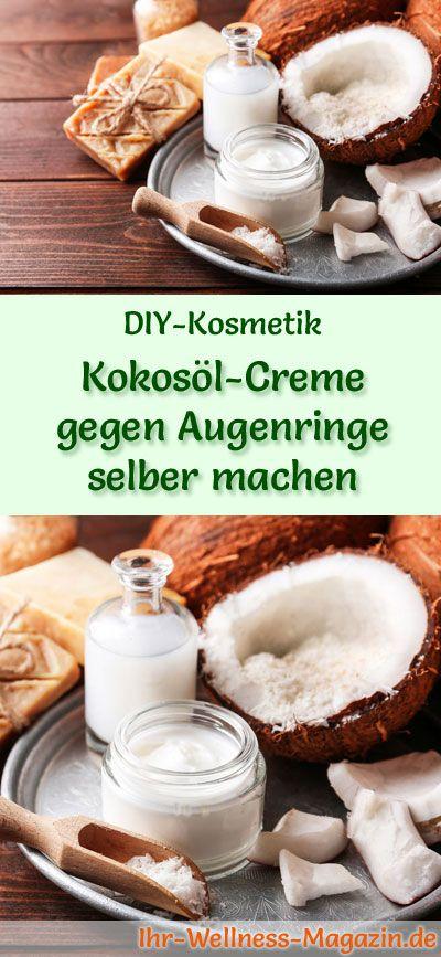 kokos l creme gegen augenringe selber machen rezept anleitung kokos l kosmetik selber. Black Bedroom Furniture Sets. Home Design Ideas