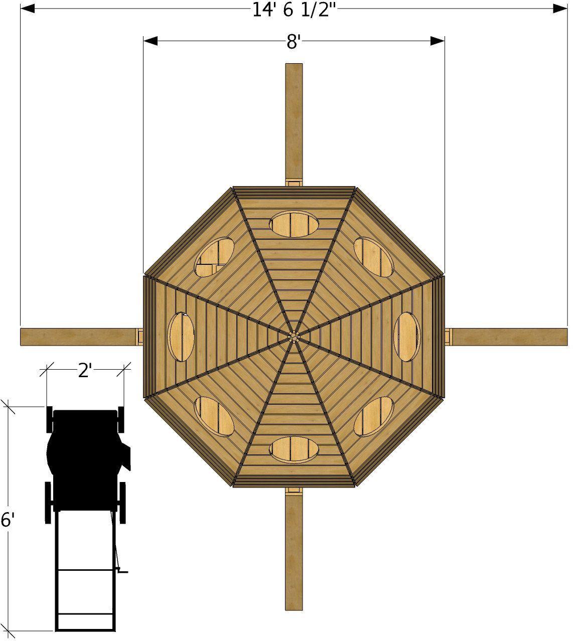 Top Isometric View Of Rocket Ship Playhouse Plan