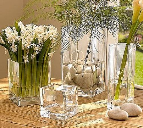 Easy Diy Centerpieces Cube Vase Block Vase Square Vase River