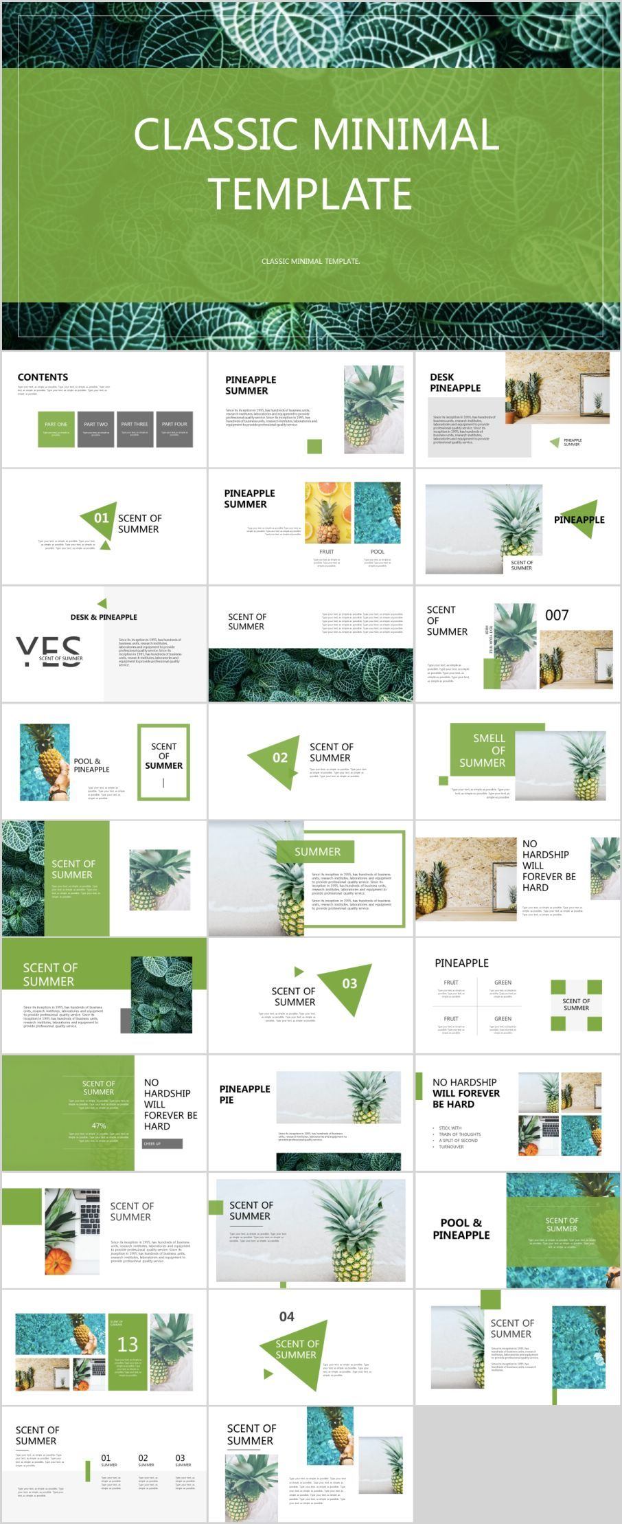 31 best green fruit design powerpoint templates ppt layout