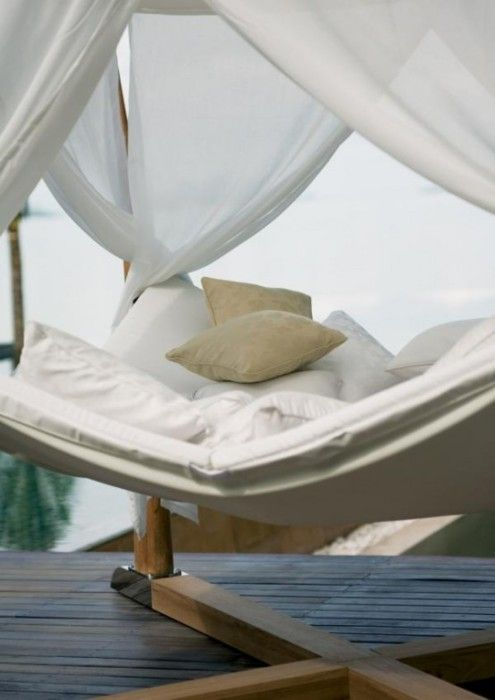 Hammock lounge with canopy