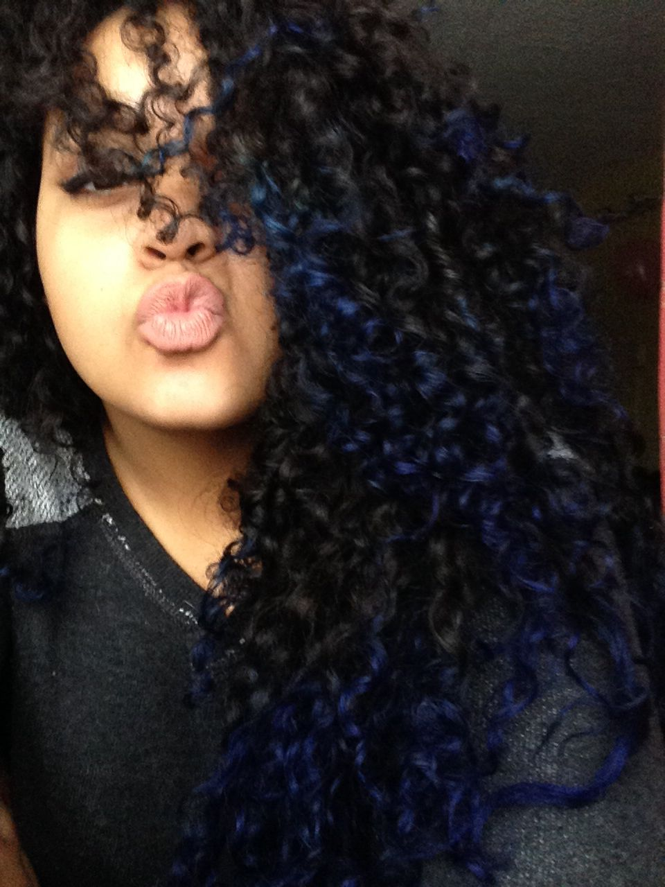 Blue Tips Natural Curly Hair Ombre Ombre Curly Hair Turquoise Hair Ombre Hair Dye Shades