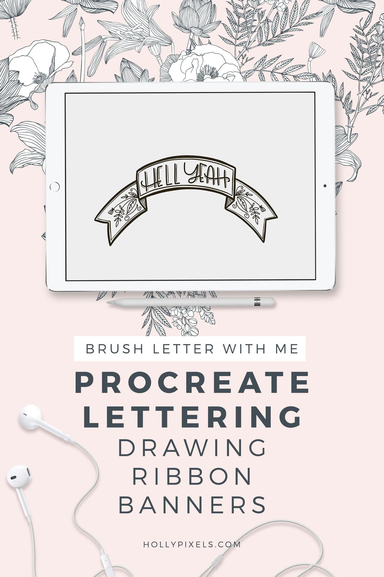 How To Fill Letters With A Photo In Procreate How To Draw Ribbon Ipad Lettering Procreate Procreate Lettering