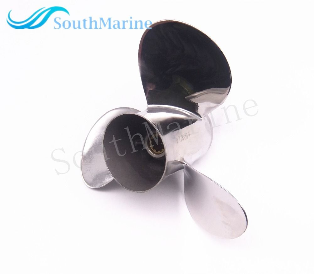 Outboard Motor Stainless Steel Propeller 9 7/8x13-F for Yamaha Boat