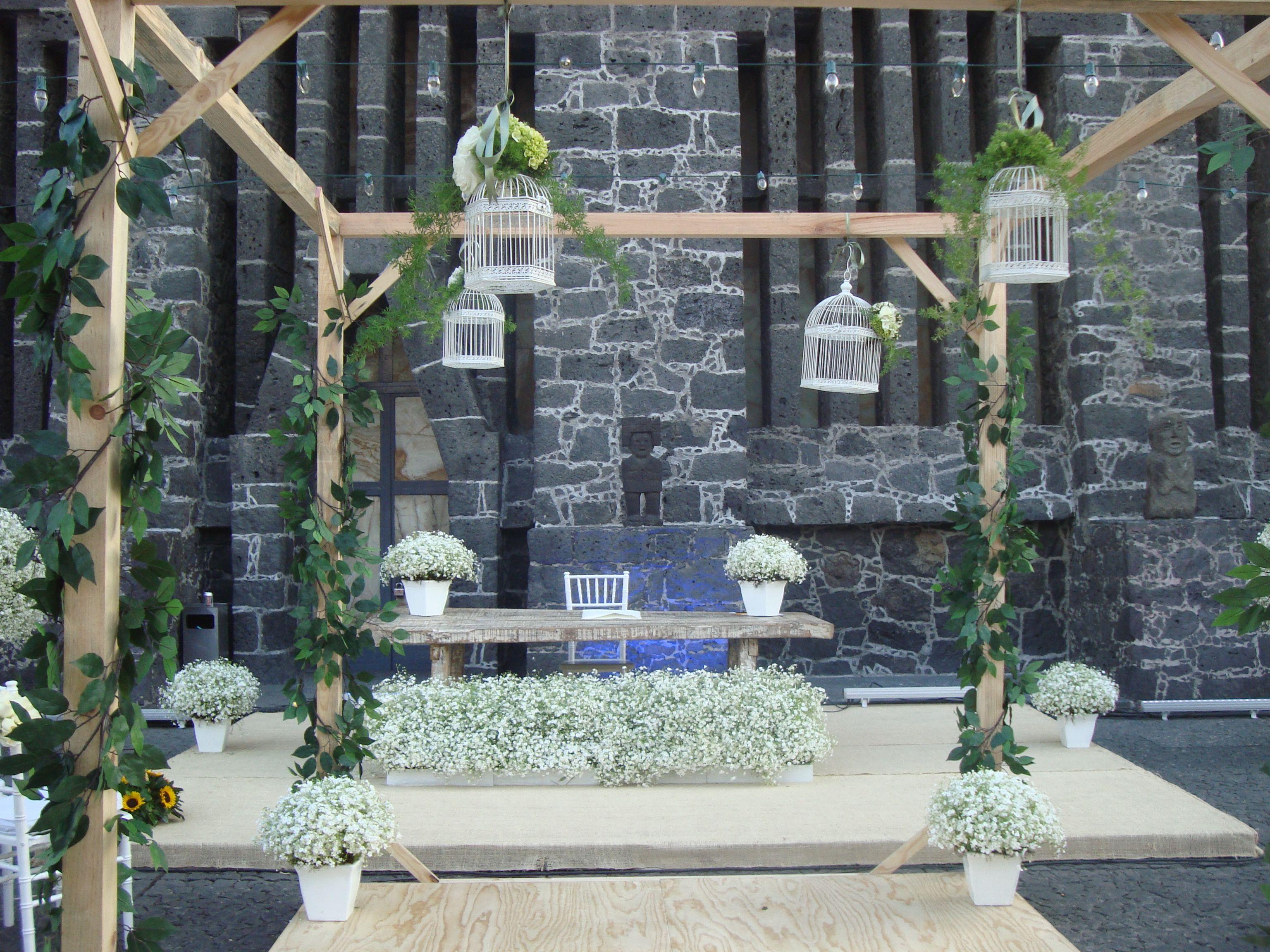 Decoración de ceremonia religiosa