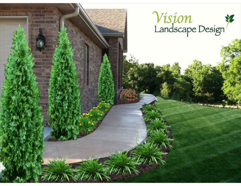 Landscaping Front Sidewalk Landscape Designs Thumbs