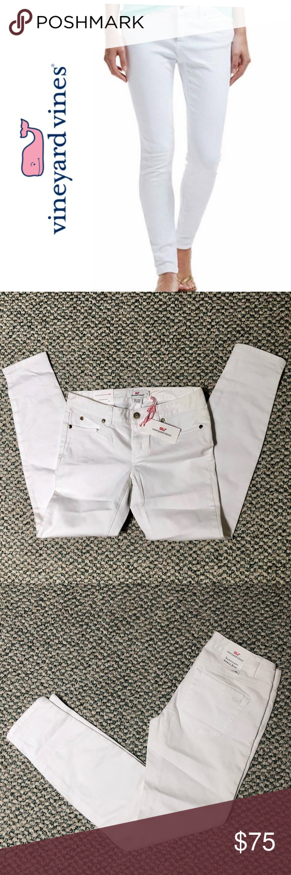 NWT Vineyard Vines Nantucket Ankle Jean NWT Vineyard Vines Nantucket Ankle Jean size 00 all white as pictured  great for everydayoutingvacation etc Vineyard Vines Jeans