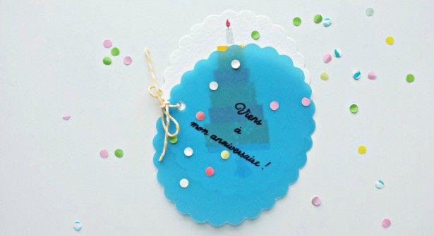 Carte d'invitation surprise pour un anniversaire | Carte invitation anniversaire, Carte ...