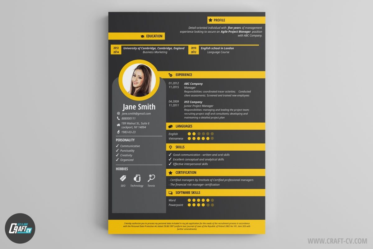 Creative Cv Example Force 1200—800 Numan Pinterest