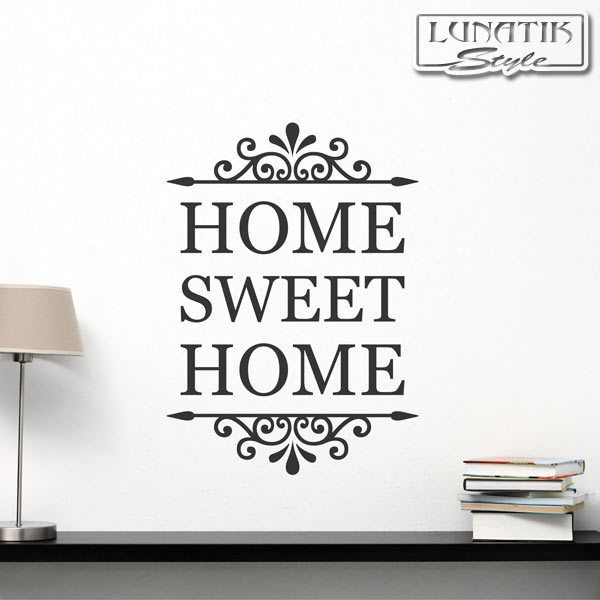 Wandtattoo Home Sweet Home Schrift Ornament   WS88 Von Lunatik Style Via  Dawanda.com