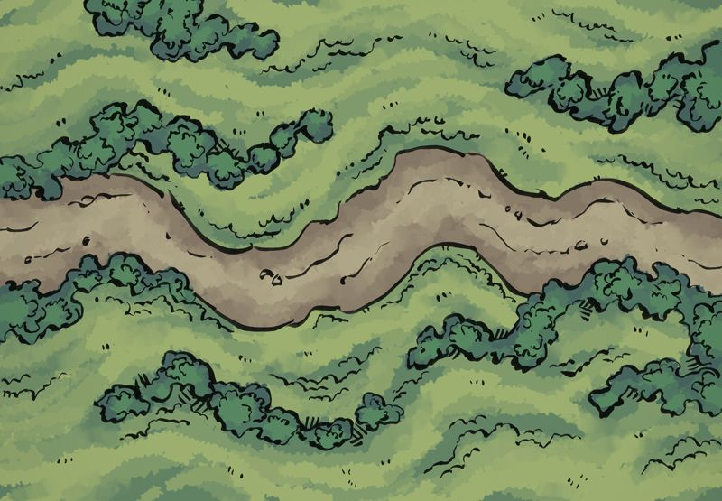 Wild Road Dragons, RPG and Fantasy map - new random world map generator free