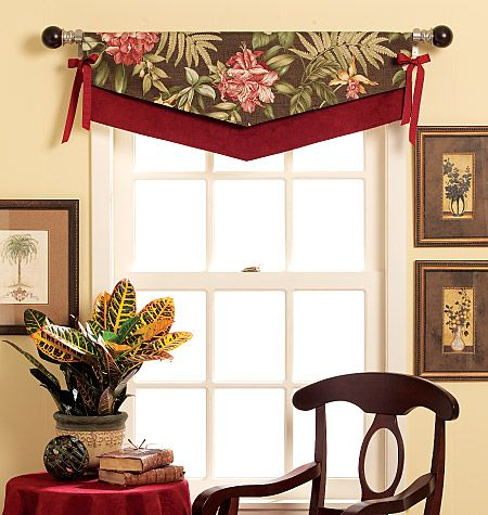 Fast Easy Reversible Valances Sewing Pattern Window Decor Diy