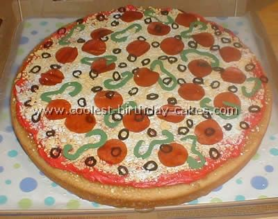 Tremendous Awesome Homemade Pizza Cake Decorating Tips And Ideas Cake Funny Birthday Cards Online Elaedamsfinfo