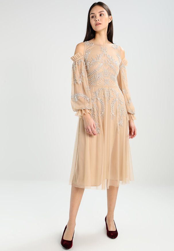 COLD SHOULDER WITH FRILL SLEEVES - Cocktailkleid/festliches Kleid ...