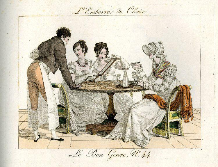 le bon genre 44 caricatures parisiens pinterest fashion plates regency era und regency. Black Bedroom Furniture Sets. Home Design Ideas