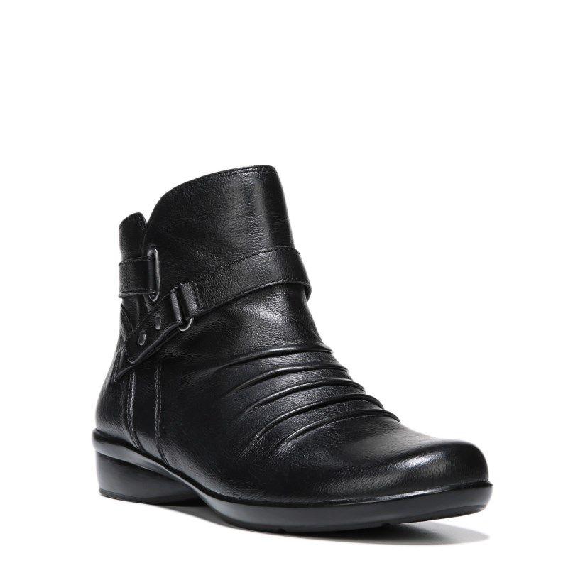 Naturalizer Women's Cassini Medium/Wide Booties (Black Leather) - 10.0 M