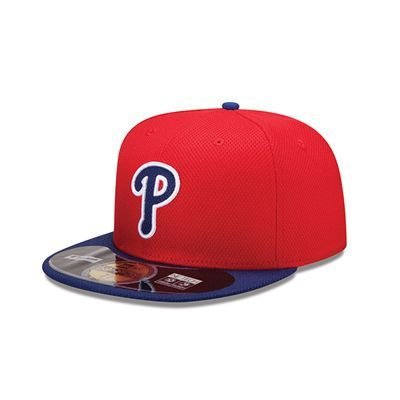b76f2dedf73 Philadelphia Phillies New Era MLB Diamond Tech 5950 Fitted Hat (Red ...