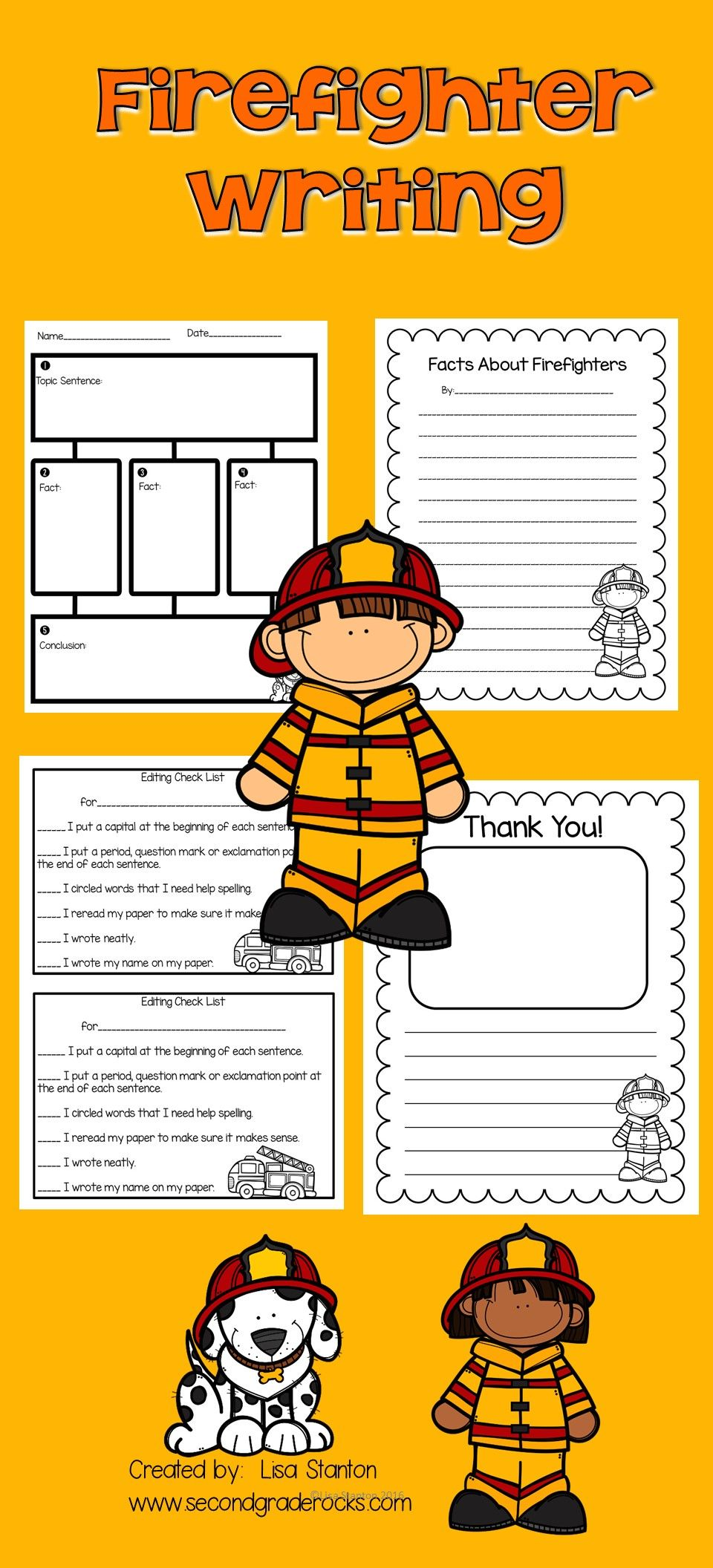 Pin By Second Grade Rocks On Tpt Products Writing Activities Writing Lessons Informational Writing Reading street grade firefighter