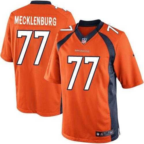 24.99 nike limited karl mecklenburg orange mens jersey denver broncos 77 nfl home denver broncos 21