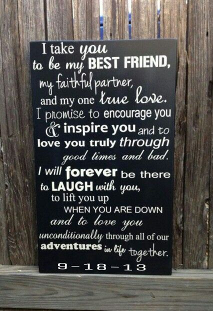 Wedding Vows Anniversary Gift Wood Sign X 20 Marriage Custom Personalize First Fifth Modern