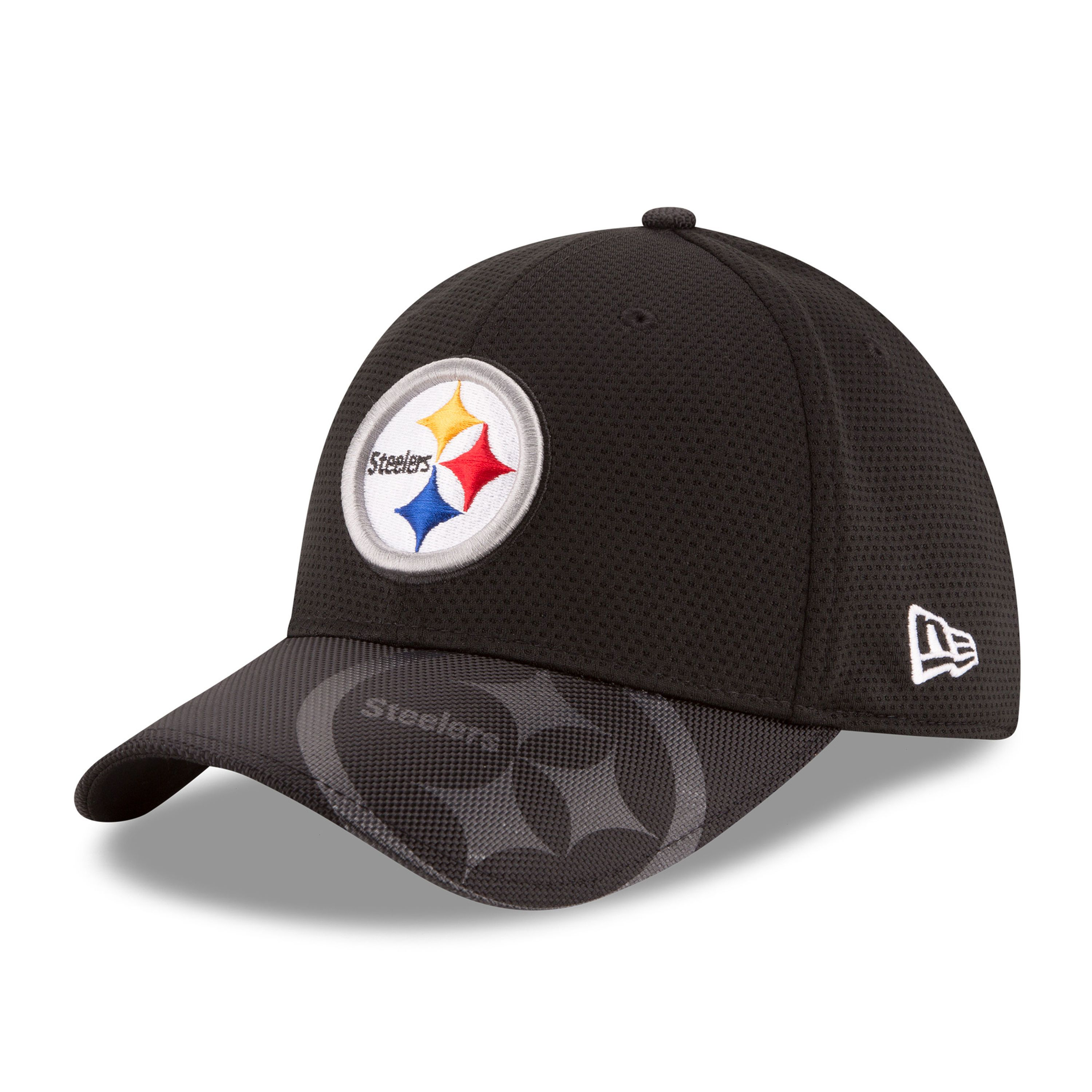 a63835a38a9dd Pittsburgh Steelers New Era 2016 Sideline Official 39THIRTY Flex Hat -  Black Jerseys Nfl