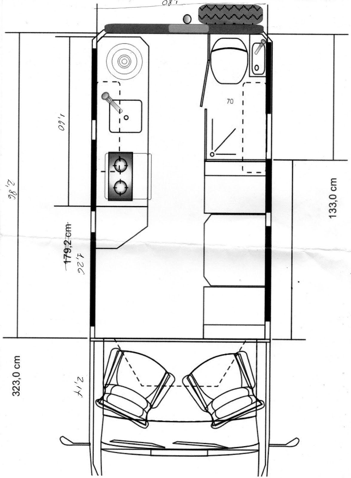 Planta Baixa De Projeto Motorhome Em Ducato Motorhome Casa Sobre Rodas Casa Em Rodas