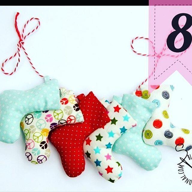 Socken Strümpfe Wimpelkette | DIY Weihnachten Advent | Pinterest ...