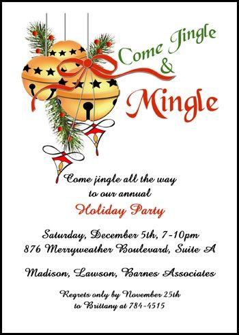 festive company party invitations for business jingle mingle holiday