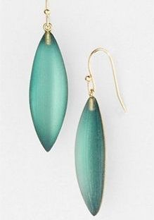 Alexis Bittar Lucite Neo Bohemian Small Sliver Earrings In Green