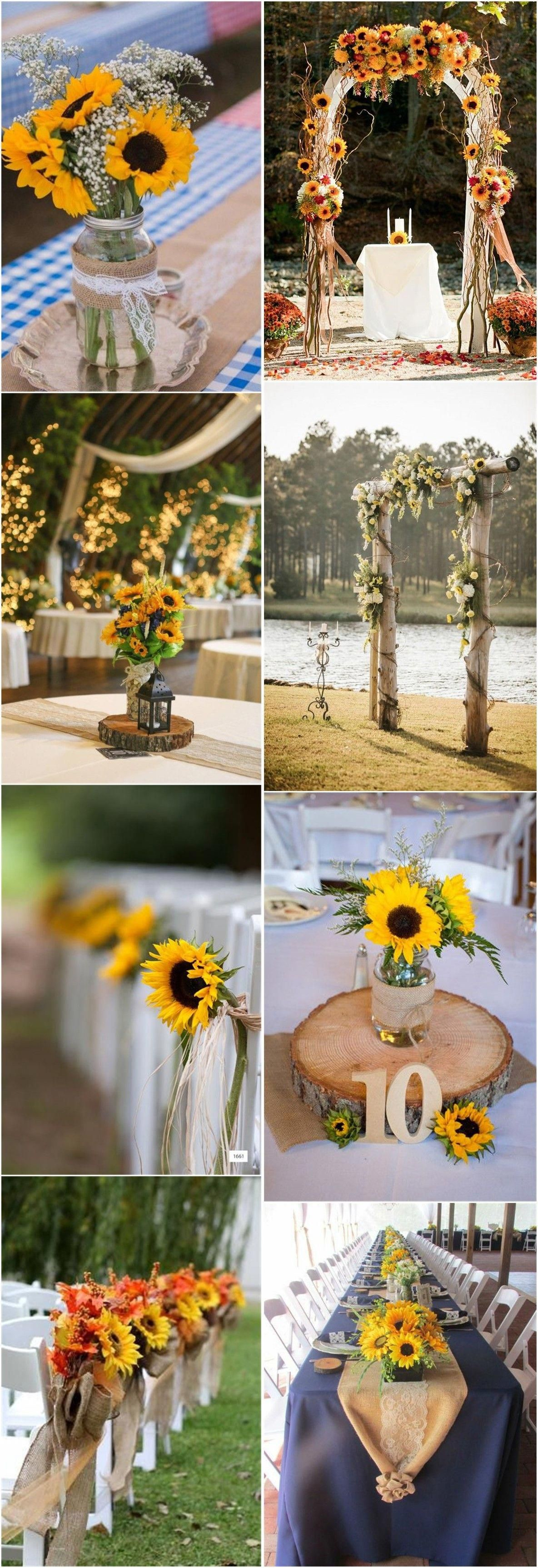 sunflowerwedding Sunflower wedding decorations