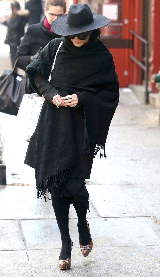 When She Was A Flawless, All Black Carmen Sandiego During New Yorku0027s Frigid  Winter.
