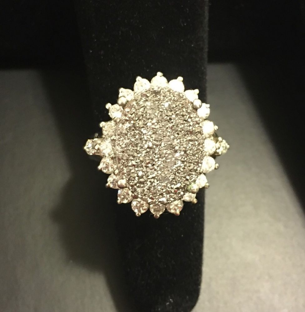 Karis Collection Oval Silver Druzy Women's Ring Size 7 | eBay ...