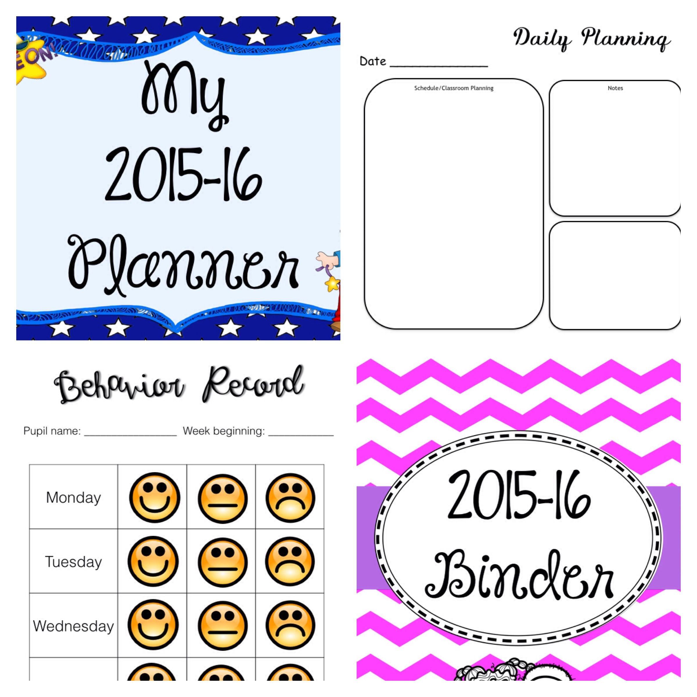 Teacher Planner Organiser Binder All Products Come As PDFs