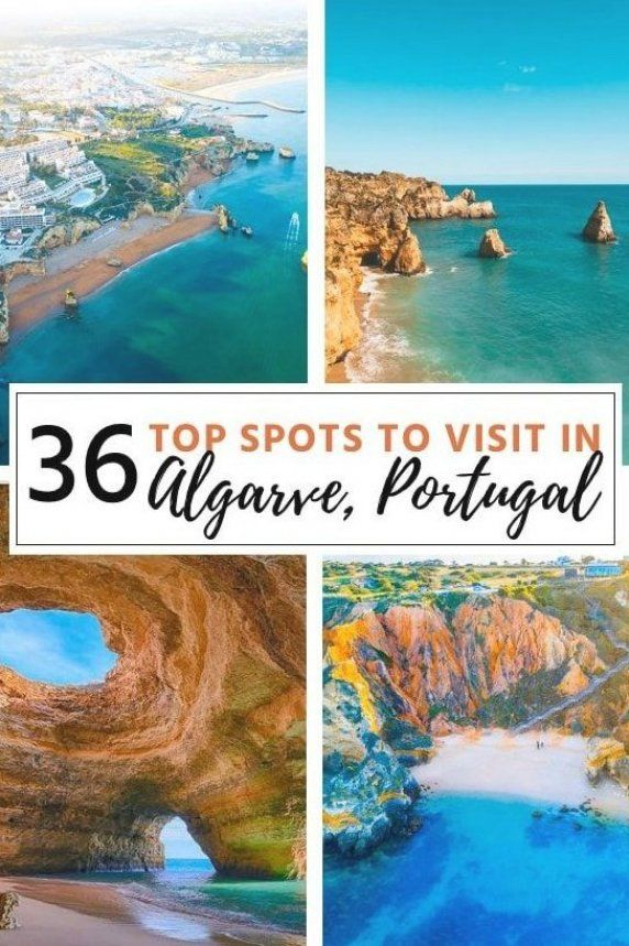 Portugal travel  36 top spots to visit in Algarve-Portugal  Algarve is the south coast of Portugal  and it   s filled with incredible places to see  The beaches in Algarve are among the most beautiful in the world  In this guide  I   ll share with you the 36 BEST places in Algarve Portugal  as well as travel tips  and even a free map of all the spots  #algarve #portugaltravel #europetravel #traveldestination #travelinspiration #traveltips #traveltips