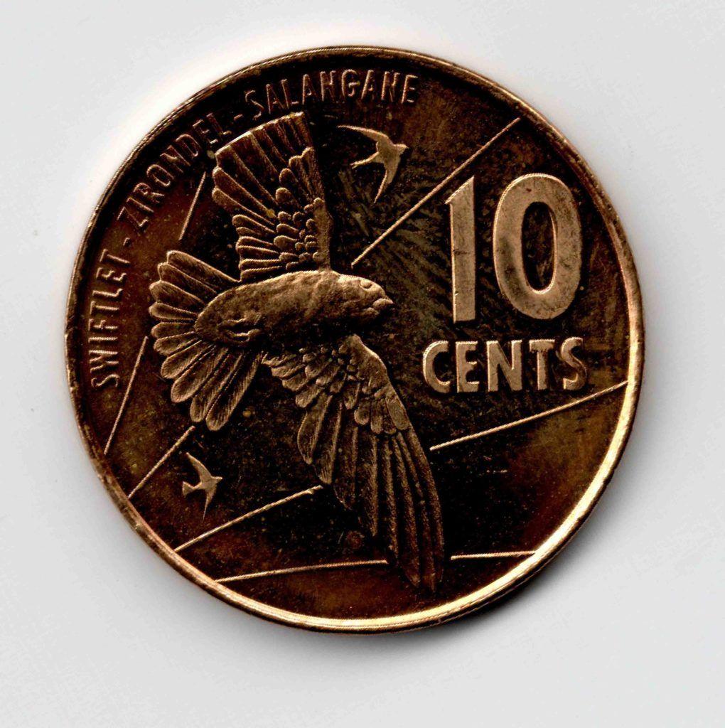Seychelles 10 Cents Used Coin Coins Seychelles World Coins