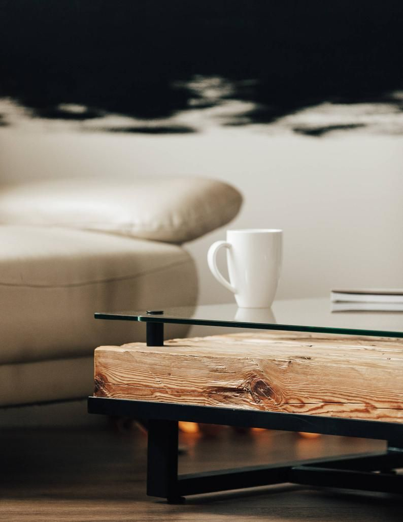 Wood Coffee Table Coffee Table Table Modern Coffee Table Steel Wood Table Wood Table Table Furniture Glass Coffee Table Furniture En 2021 Table Basse Bois Table Basse Moderne Table Cafe [ 1027 x 794 Pixel ]