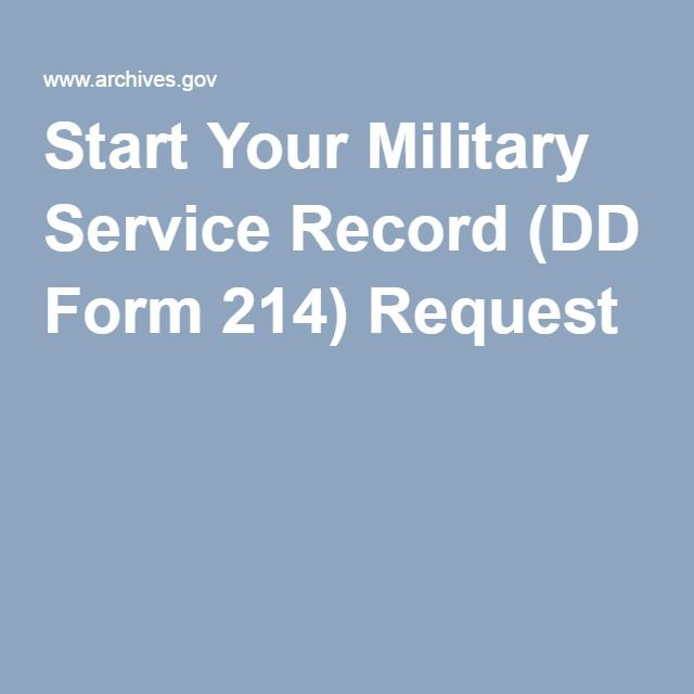 Start Your Military Service Record Dd Form  Request  Family