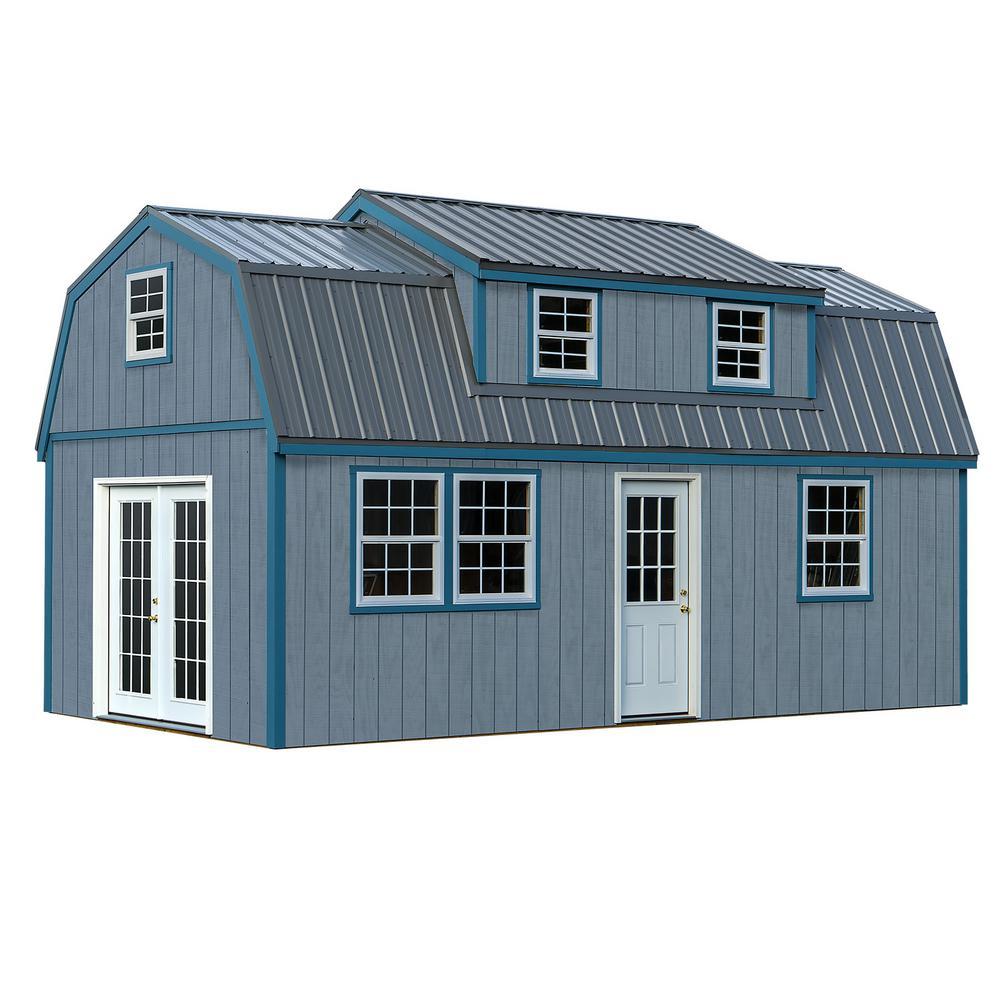 Lakewood 12 Ft X 24 Ft Wood Storage Shed Kit Without Floor Lwood1224 Foyer Exterieur Abri De Jardin Maison