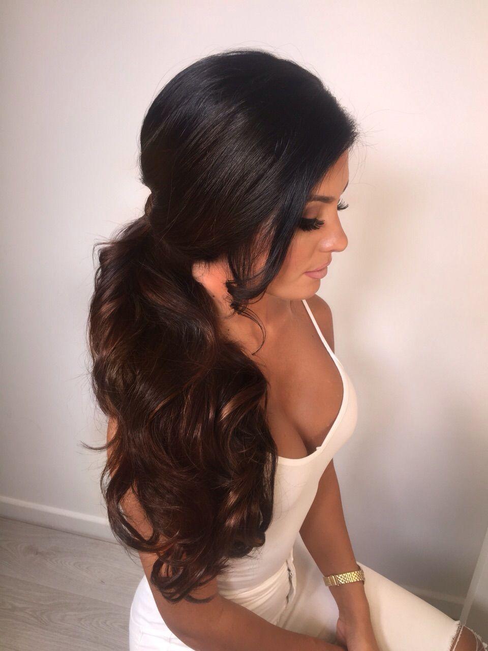 Pin by jessica stellato on bridesmaid hair pinterest hair style