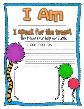 The Lorax Activities Dr Seuss Activities The Lorax Earth Day