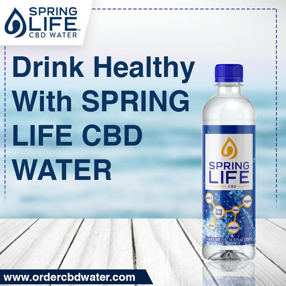 Pin by SpringLifeCBDWater on Best Quality CBD Water | Water