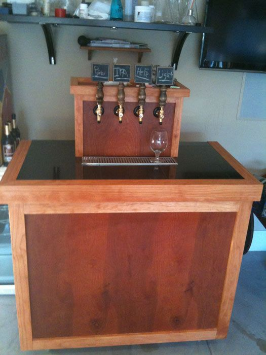 New kegerator diy build page 3 home brew forums for Home bar with kegerator space