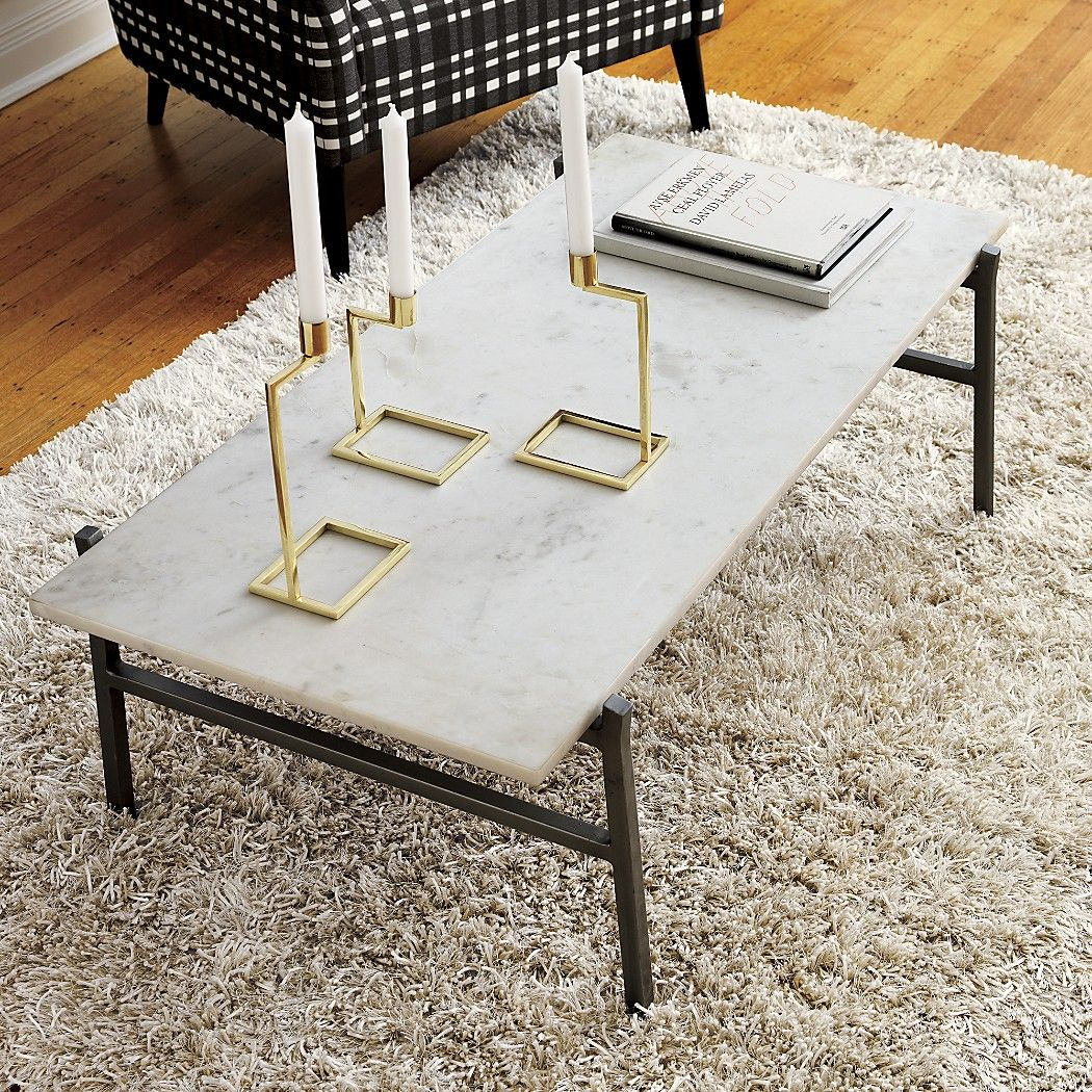 Slab Small Marble Coffee Table With