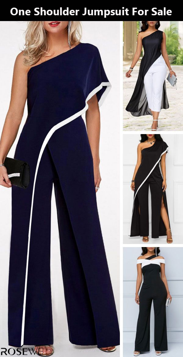 Chic outfit are hitting the site just in time to freshen up your wardrobe! Free shipping worldwide. #jumpsuit#oneshoulder#springbreak#outfit#womensfashion#cuteoutfit#rosewe #casualjumpsuit