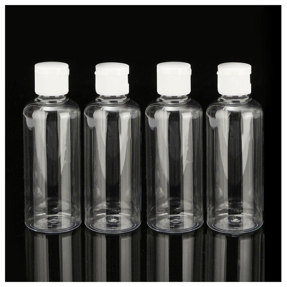 Hthl 4 X 100 Ml Butelki Plastikowe Jasne Odwr Podr Szampon Pot Cream Kosmetik 15ml Kupowa Balsam Pojemnik Kosmetyczny