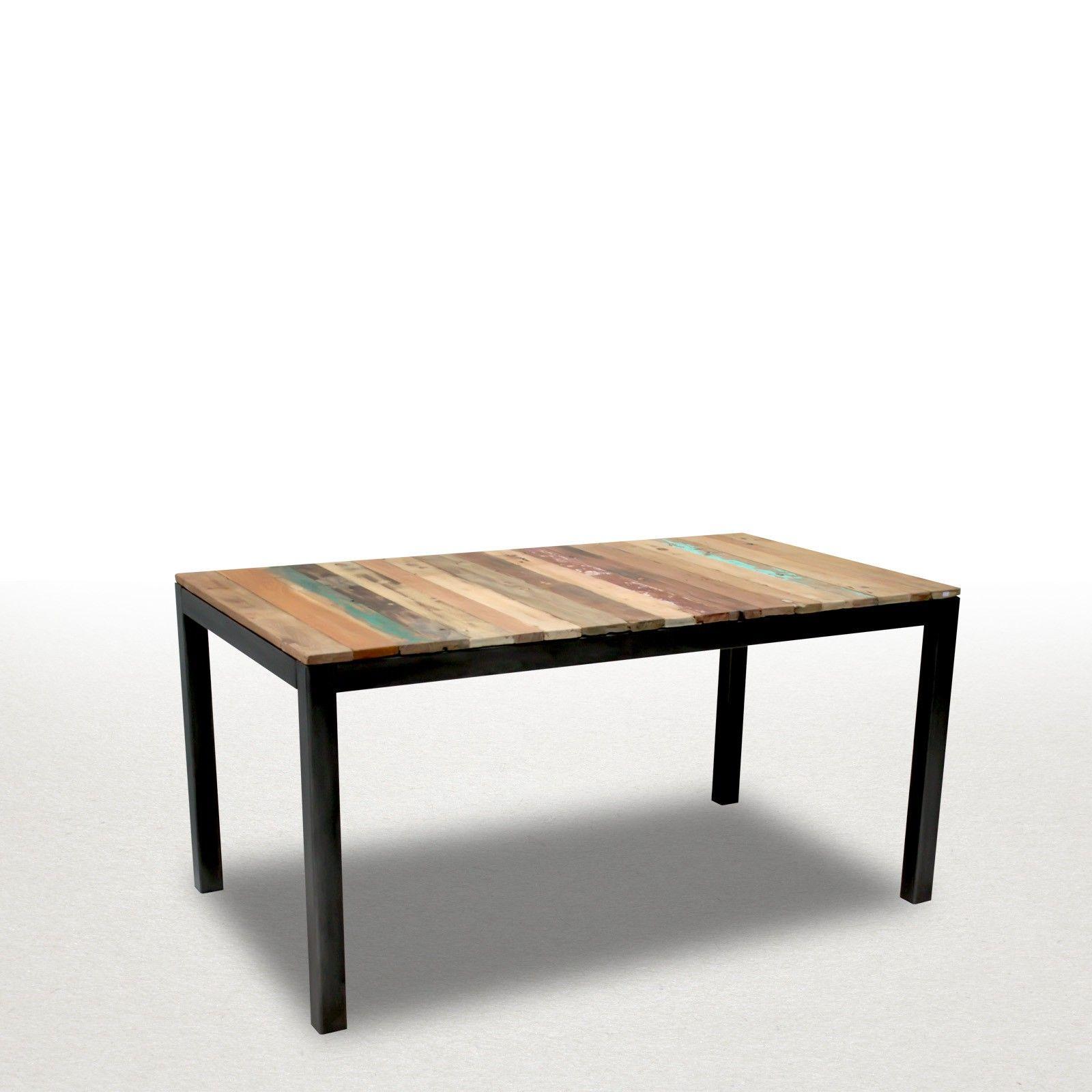 meuble industriel en bois de bateau table de repas 180cm avec 2 allonges de 50cm mod le ed352. Black Bedroom Furniture Sets. Home Design Ideas