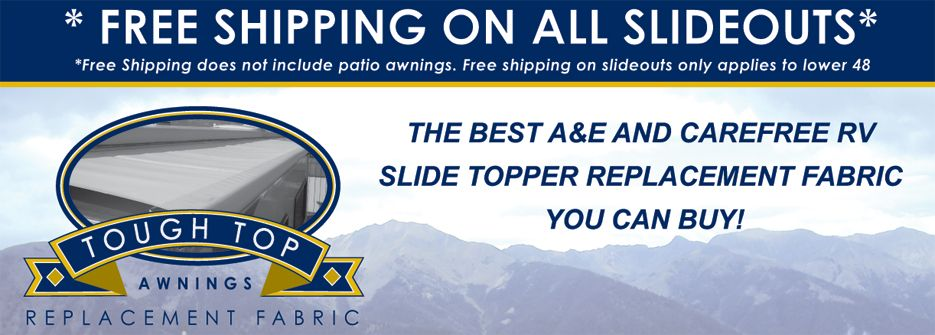 RV Slide-Out Topper Awning Replacement Fabric Installation ...