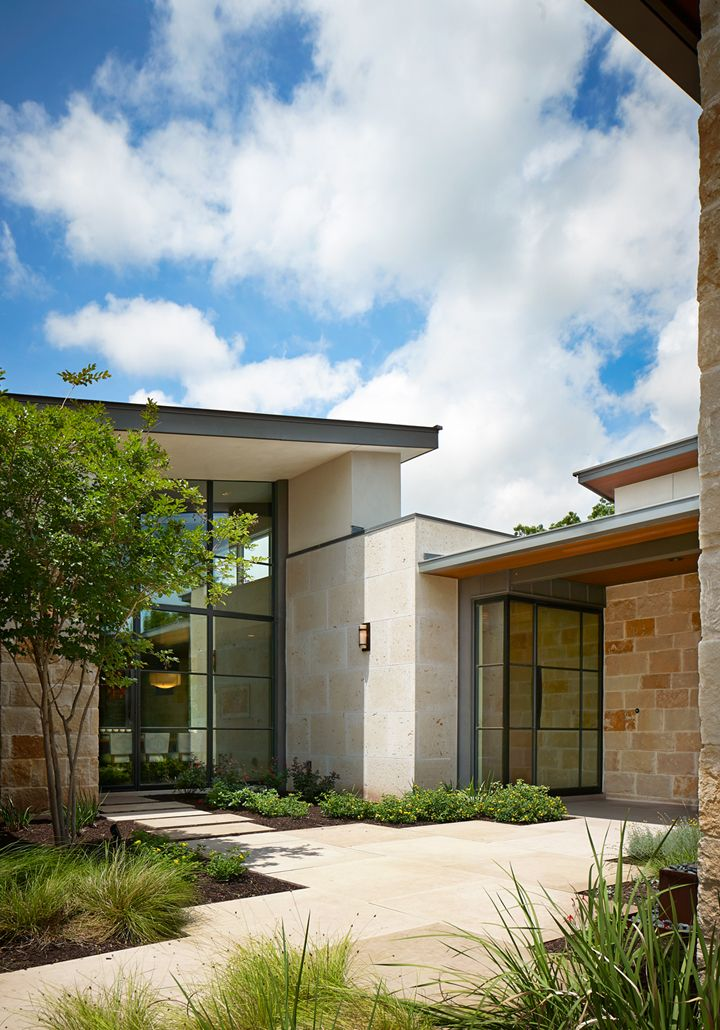 By Larue Architects: Exterior Of The Caslano Residence #modern #contemporary #architecture #hillcountry #austintexas