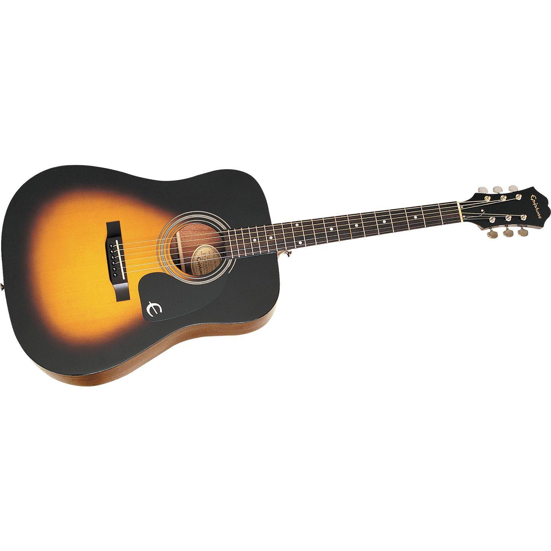 epiphone dr 100 acoustic guitar vintage sunburst acoustic