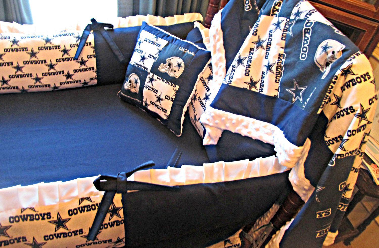 Ready To Ship Nfl Dallas Cowboys Custom Crib Bedding Set 275 00